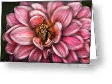Insect - Bee - Center Of The Universe  Greeting Card