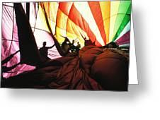 Inside A Hot Air Balloon Greeting Card