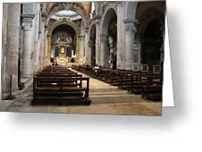 Inside Beautiful Church In Rome Greeting Card