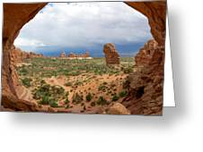 Inside Double Arch Greeting Card