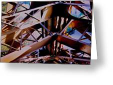 Inside Eiffel Greeting Card