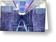 Inside Of New Bus  Greeting Card