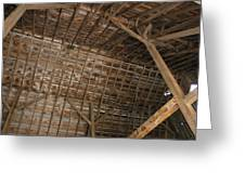 Inside Of The Barn Greeting Card