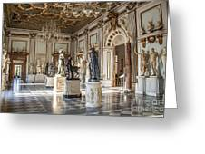 Inside One Of The Rooms Of The Capitoline Museums In Rome, Italy  Greeting Card