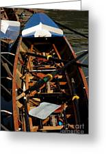 Inside Sail Boat Greeting Card by Michael Henderson