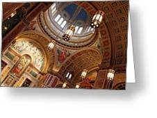 Inside Saint Matthew's Cathedral -- At An Angle Greeting Card