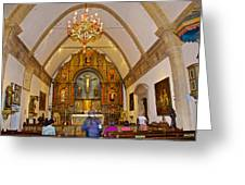 Inside Sanctuary At Carmel Mission-california  Greeting Card