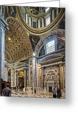 Inside St Peter's Basilica Rome Greeting Card