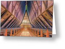 Inside The Cadet Chapel Greeting Card