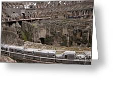 Inside The Coliseum Greeting Card