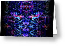 Inside The Electric Temple After Nightfall Greeting Card