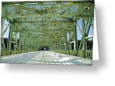 Inside The Falls Bridge - Winter Greeting Card