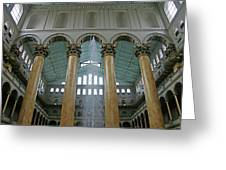 Inside The National Building Museum Greeting Card