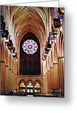 Inside The National Cathedral Greeting Card