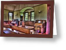 Inside The Oysterville Church  Greeting Card