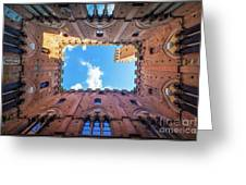 Inside The Tower Greeting Card