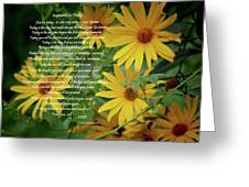 Inspiration For Today Floral Greeting Card
