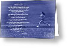 Inspiration For Today Runner  Greeting Card