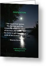 Inspiration In Darkness Greeting Card
