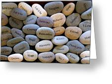 Inspirational Message Stones Greeting Card