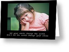 Inspirational- Smile Greeting Card