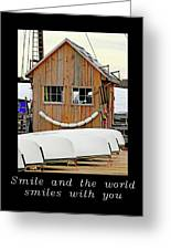 Inspirational- The World Smiles With You Greeting Card
