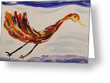 Inspired By Calder's Only Only Bird Greeting Card