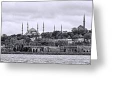 Instanbul In Black And White Greeting Card