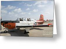 Instructor Pilot And Student In A T-34 Greeting Card