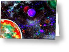 Intense Galaxy Greeting Card