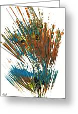 Intensive Abstract Expressionism Series 64.102511 Greeting Card