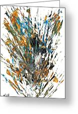 Intensive Abstract Painting 519.112011 Greeting Card