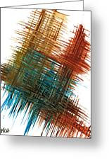 Intensive Abstract Painting 710.102610 Greeting Card
