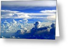 Interacting Clouds Greeting Card