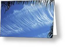 Interesting Clouds Over Phoenix Arizona Greeting Card