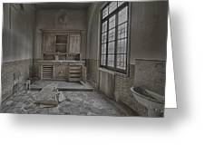 Interior Furniture Atmosphere Of Abandoned Places Dig Photo Greeting Card by Enrico Pelos