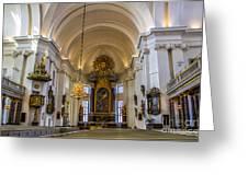 Interior Kalmar Cathedral Greeting Card