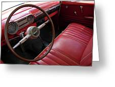 Interior Of A Classic American Car Greeting Card by Sami Sarkis