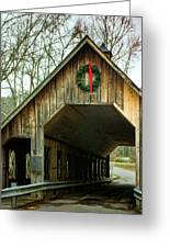 Interior Of Covered Bridge Greeting Card