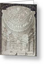 Interior Of Saint Pauls Cathedral Greeting Card