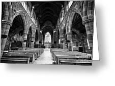 interior of st martins church Birmingham UK Greeting Card