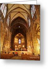 Interior Of Strasbourg Cathedral Greeting Card