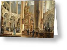 Interior Of The Franciscan Church Salzburg Greeting Card