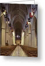 Interior Of The National Cathedral Greeting Card