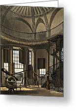 Interior Of The Radcliffe Observatory Greeting Card