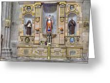 Interior View Of Church In Guanajuato Mexico Greeting Card