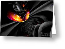 Internal Desire Abstract Greeting Card