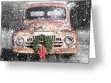International Christmas Snow Greeting Card