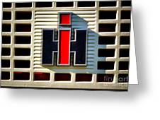 International Harvester Logo Greeting Card