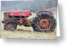 International Tractor Greeting Card